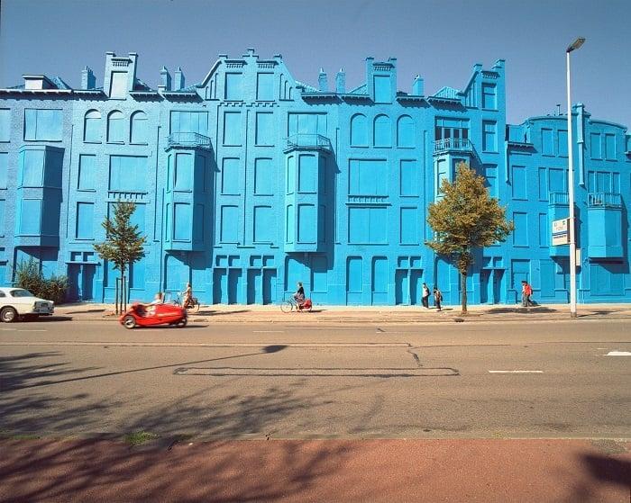 Public Art Blue Buildings