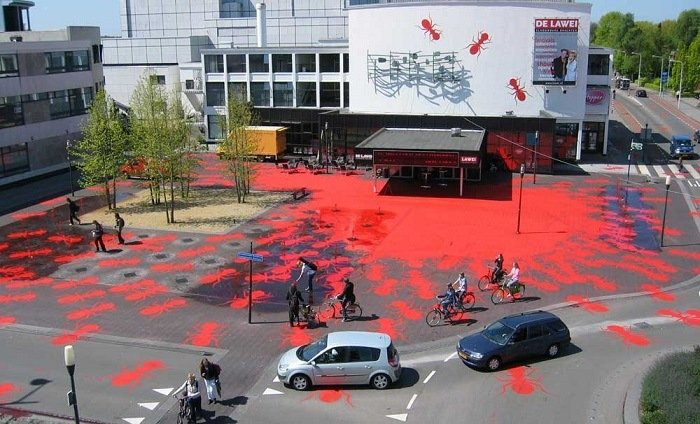 Public Art Henk Invasion of Ants Aerial