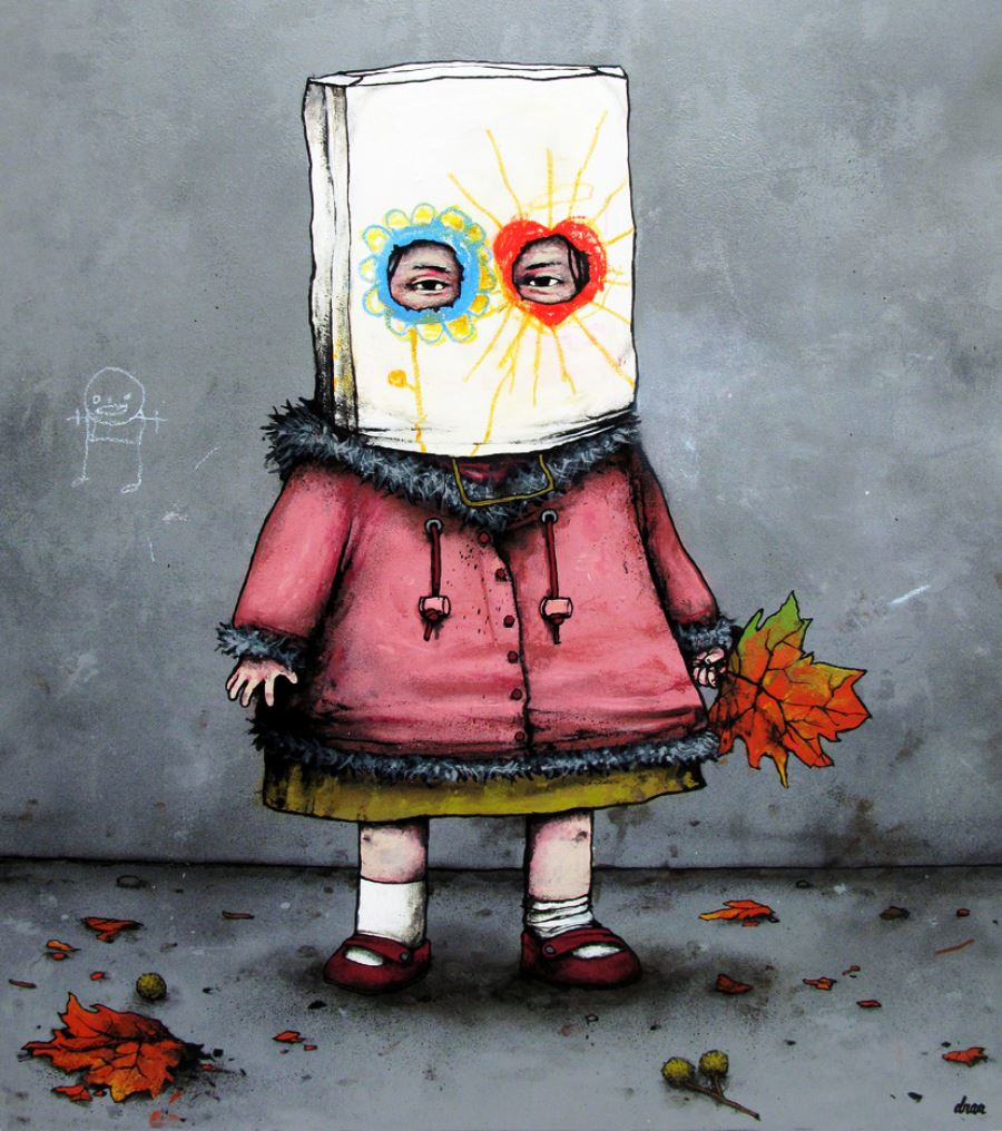 School Girl Graffiti Art