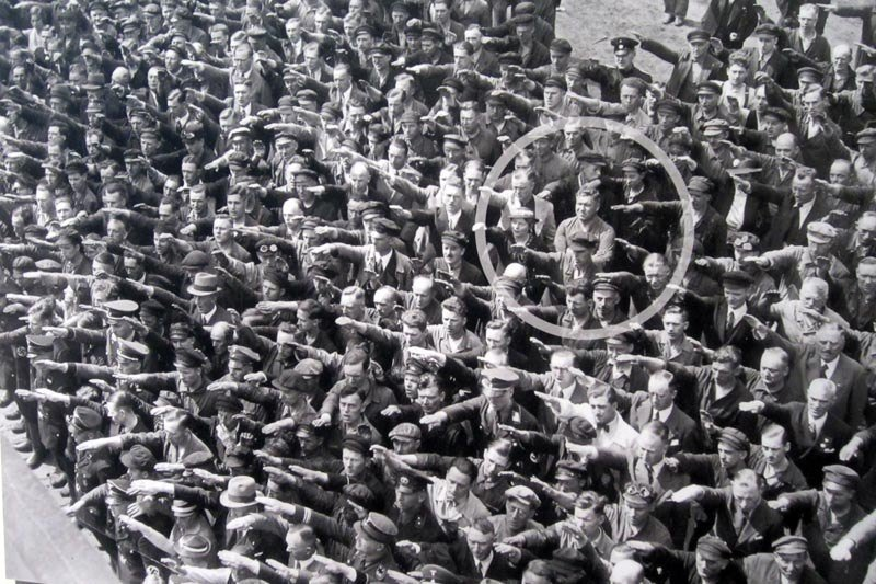 August Landmesser Refuses To Do Nazi Salute