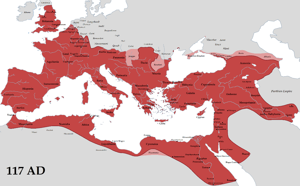 Height Of The Roman Empire Map