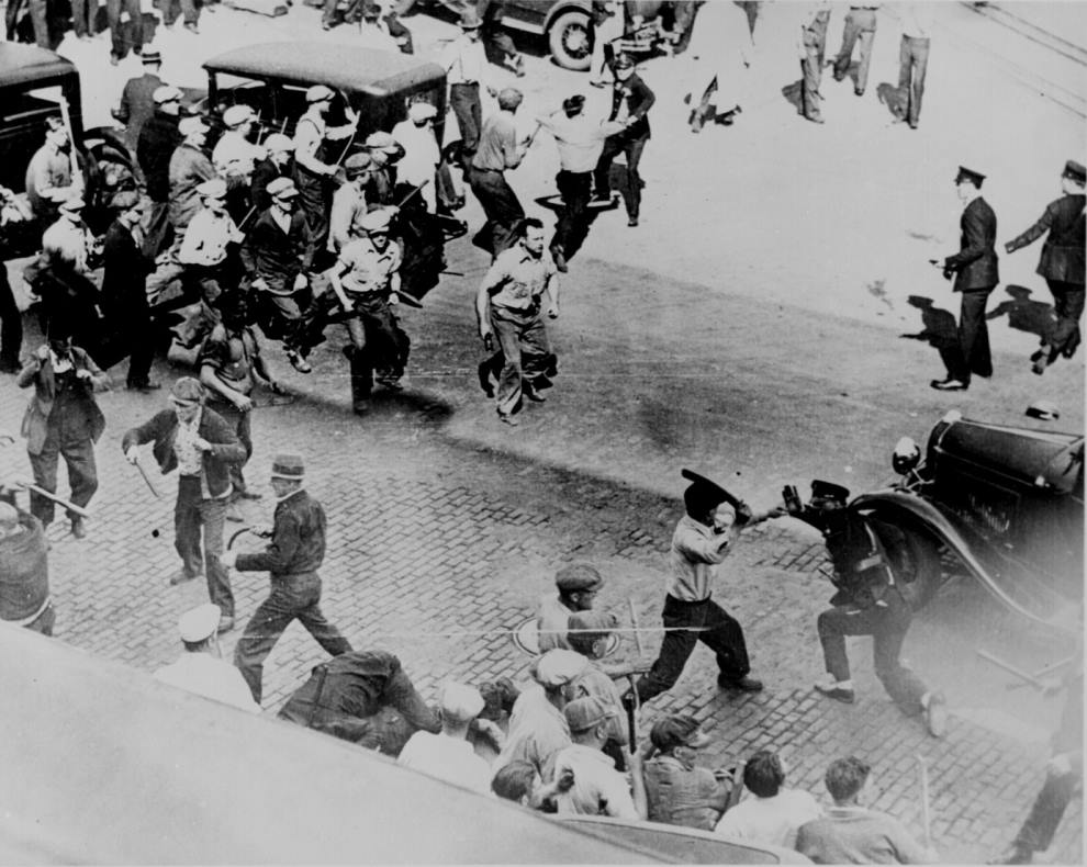 Minneapolis Teamsters Police Fight 1934