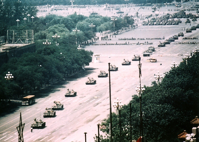Inspiring One-Person Protests Tank Man Wide Shot