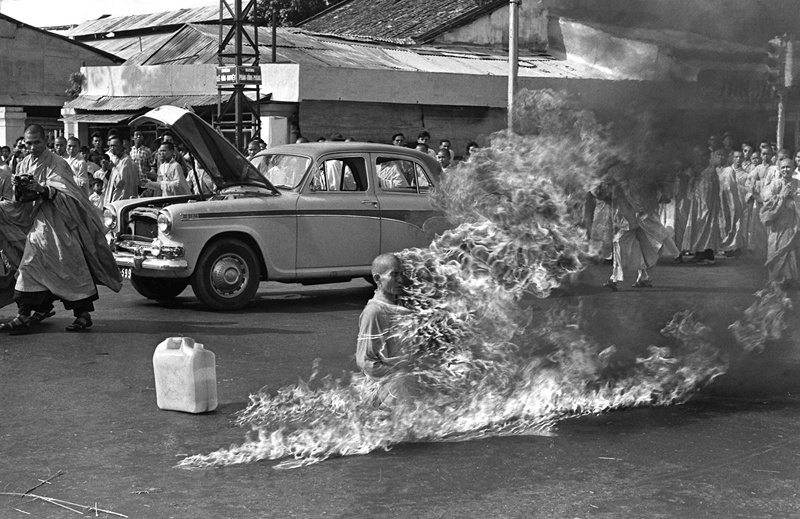 One-Person Protests Thich Quang Duc Immolation