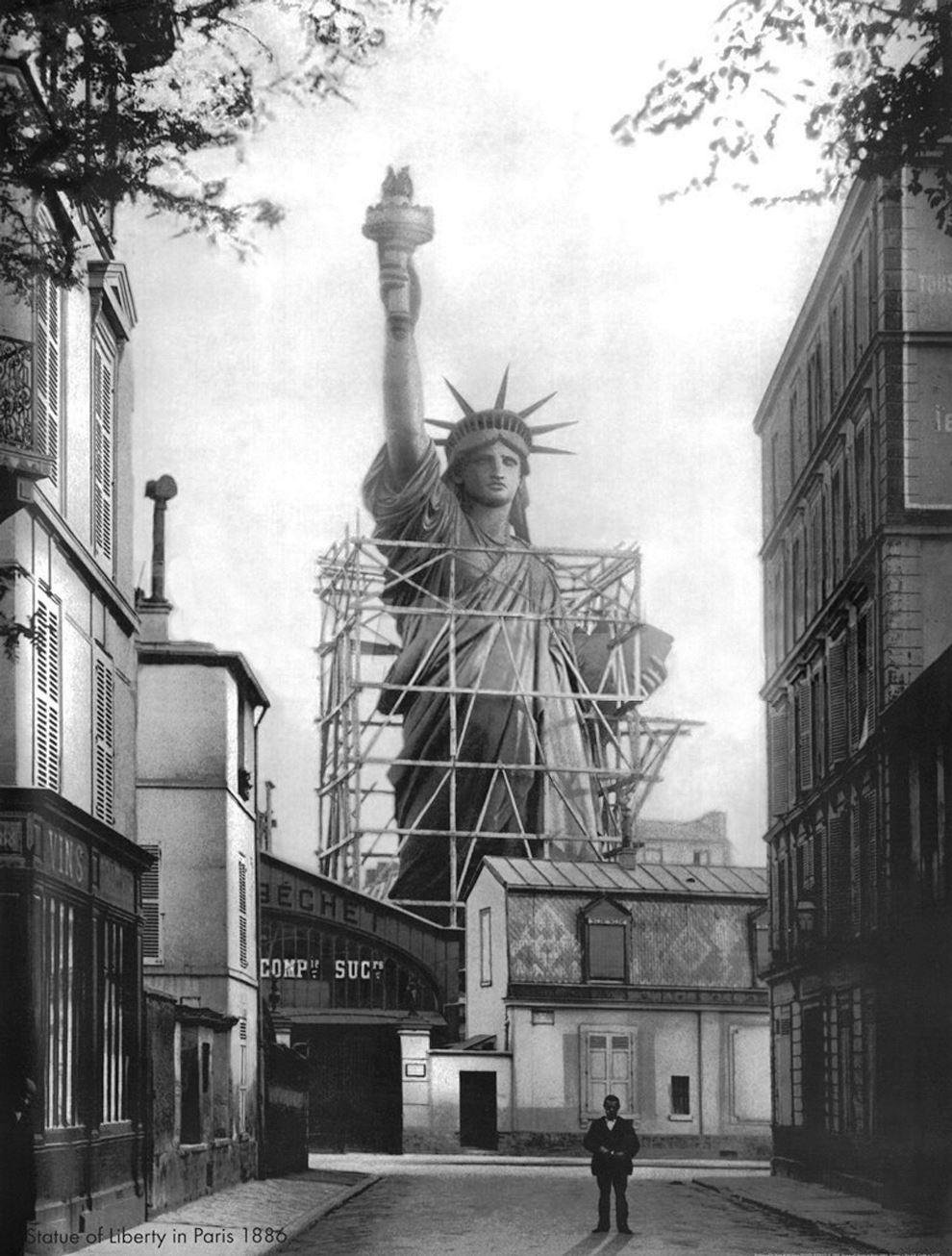 Statue Of Liberty Construction Paris 1885