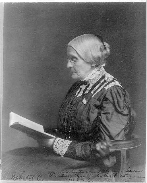 Susan B Anthony Reading A Book