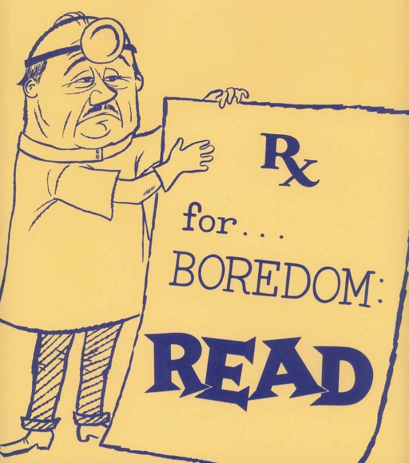 Vintage Library Ads Books The Prescription For Boredom