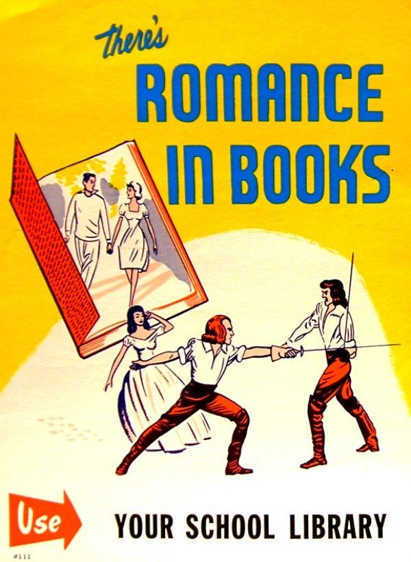 Romance in Books Library Ad
