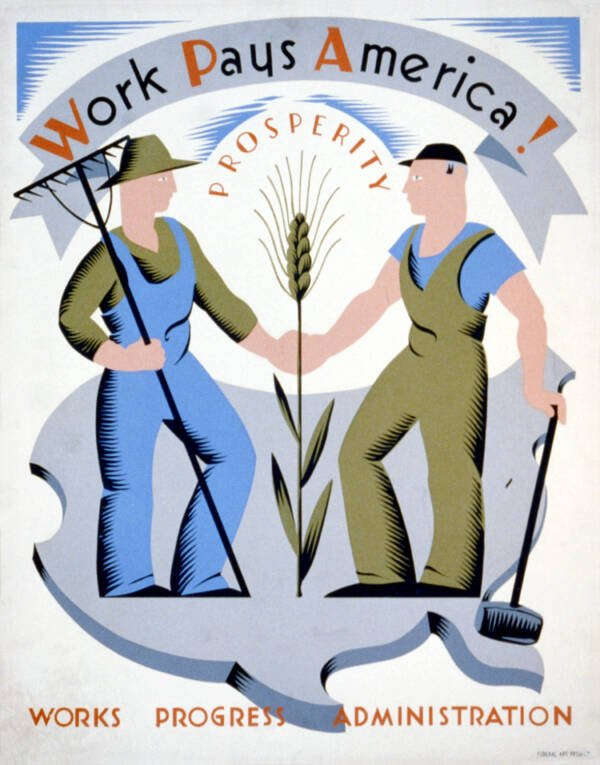 WPA Work Pays America Poster