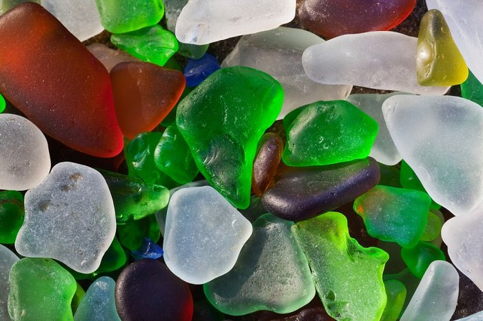 Glass Beach Colorful Sea Glass