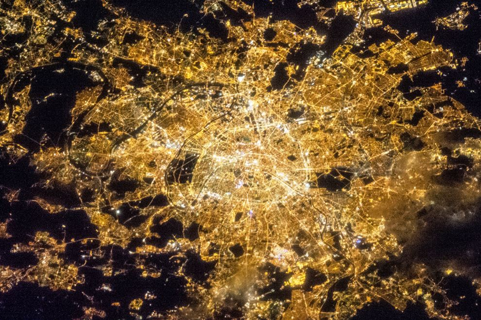 Paris From Above At Night