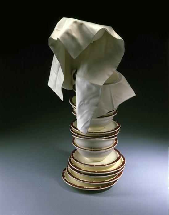 Tom Eckert Wood Sculptures Stacked Bowls