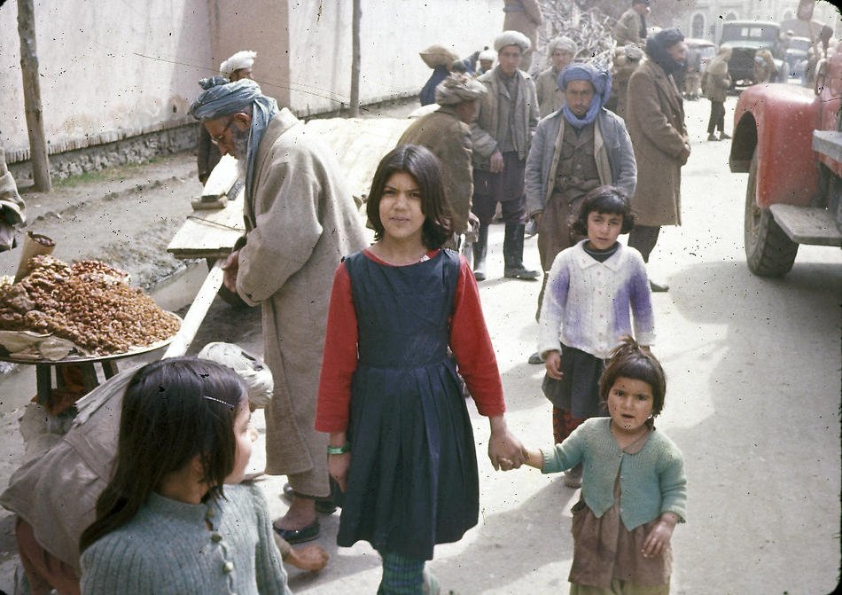 Streets Of Kabul In 1960s Afghanistan