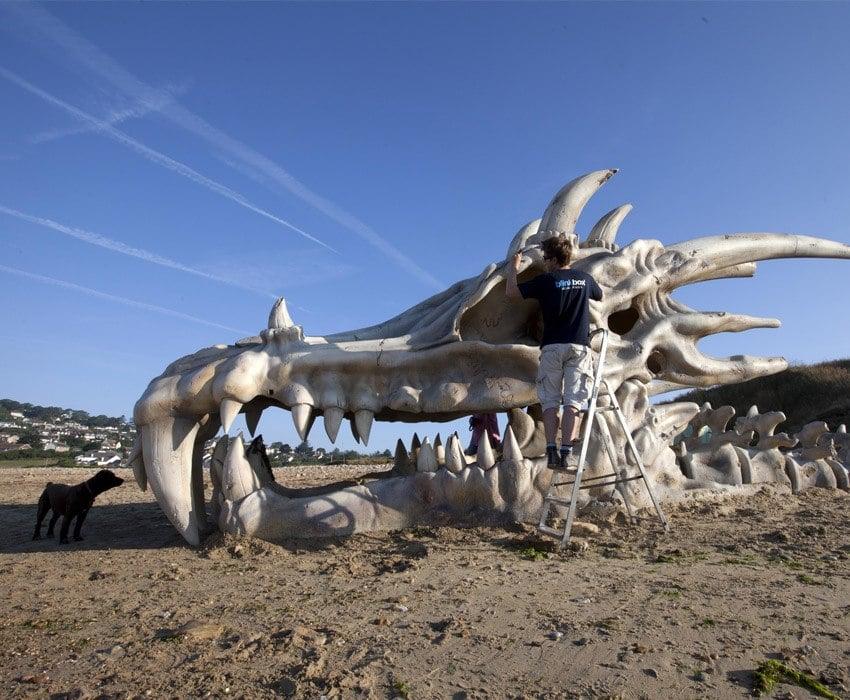 Bizarre PR Stunts Beach Dragon 2