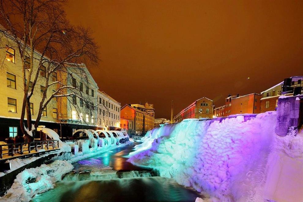 Frozen Waterfall Norrköping Sweden