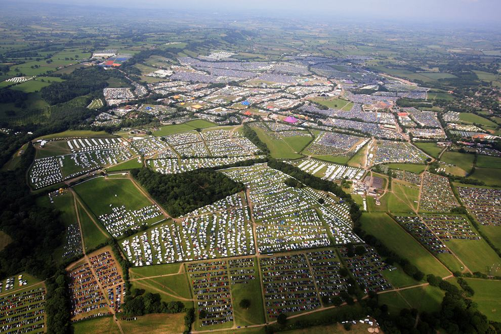 Glastonbury Festival From Above