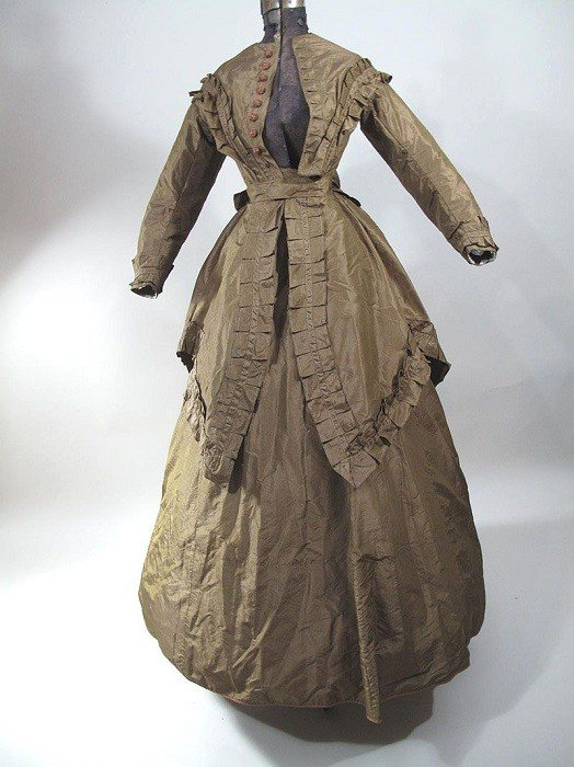 Wedding Gowns 1860 Brown Dress