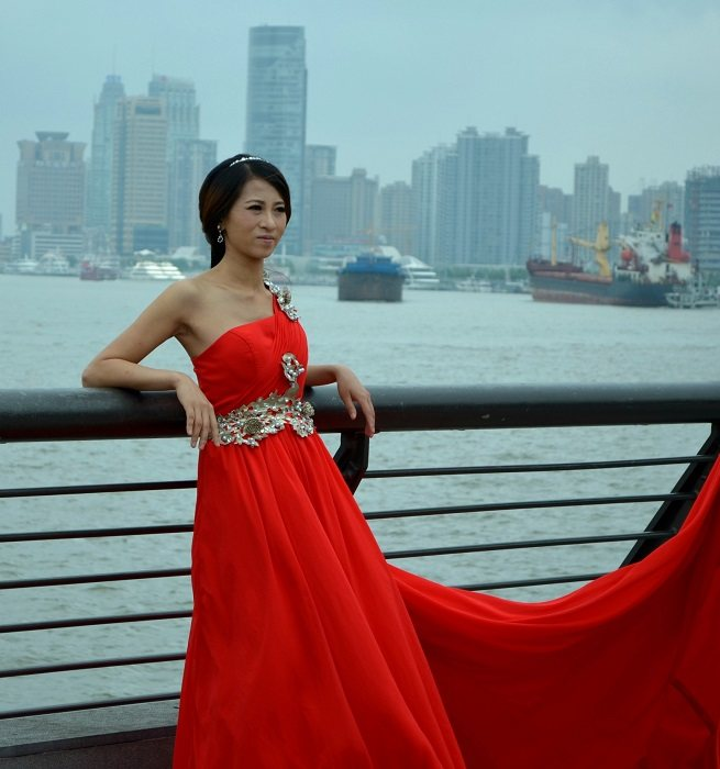 Wearing red to a chinese wedding dresses