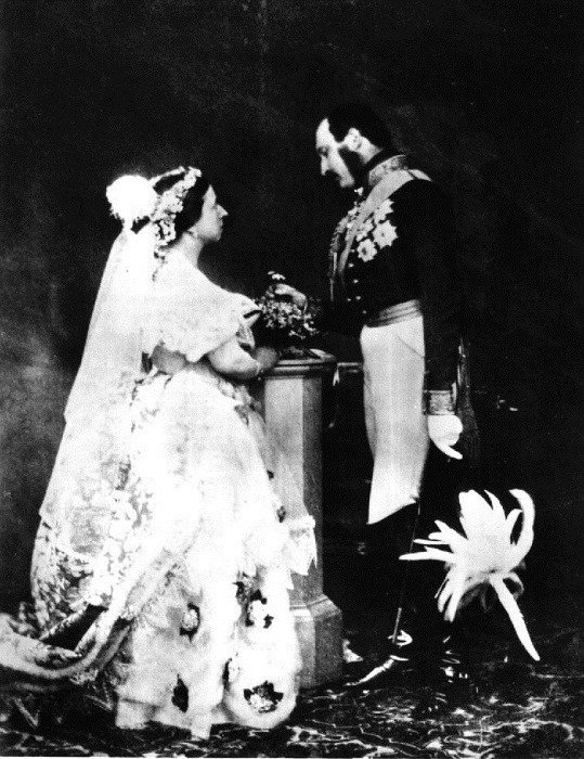 444233b1352b History Of Wedding Gowns Queen Victoria And Husband
