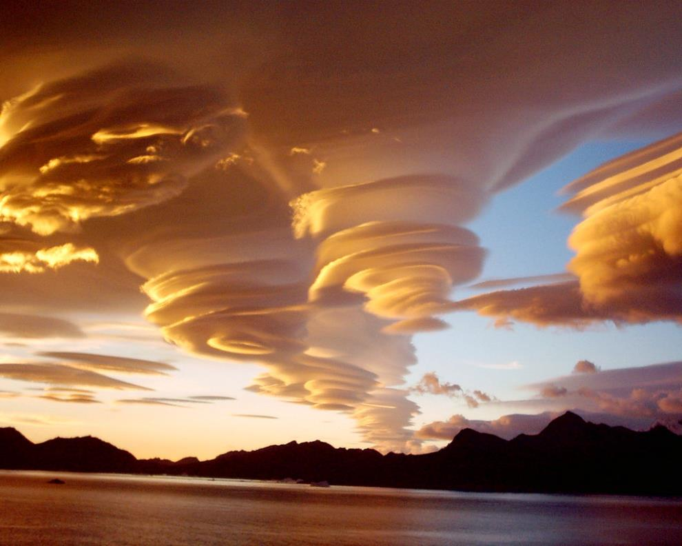 Lenticular Clouds Over Sandwich Islands