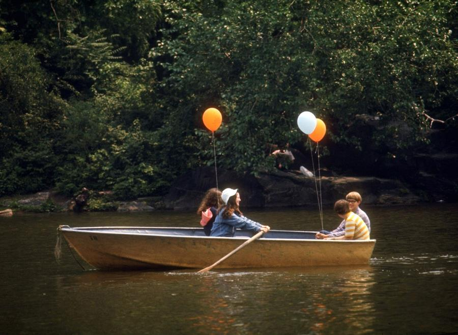 Canoeing In Central Park 1969