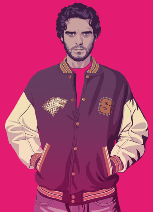 80s Game Of Thrones Rob Stark