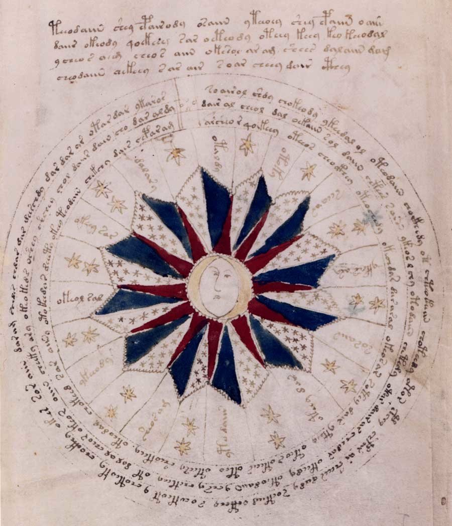Voynich Manuscript Face In Ring