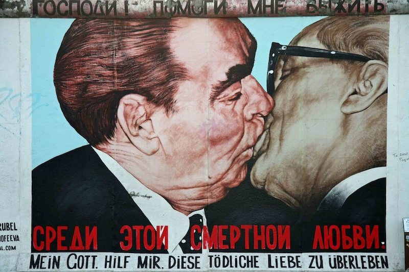 Berlin Wall Art Kissing Men
