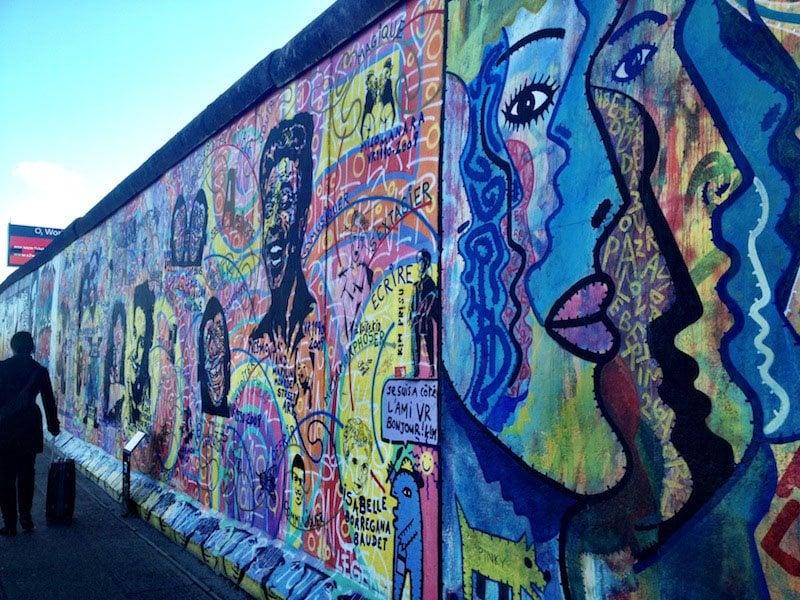 wonderful Berlin Wall Art Part - 7: Berlin Wall Art Rainbow Faces