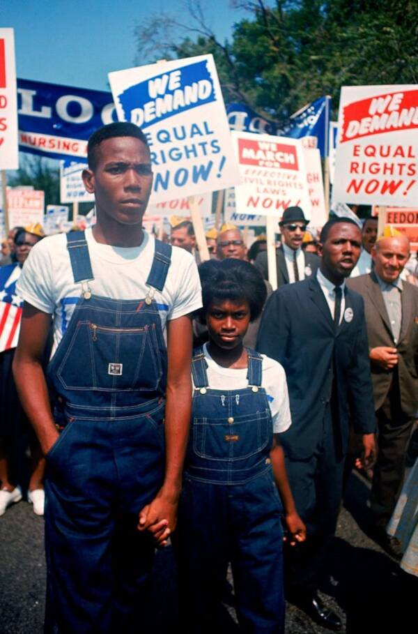 Couple At March On Washington