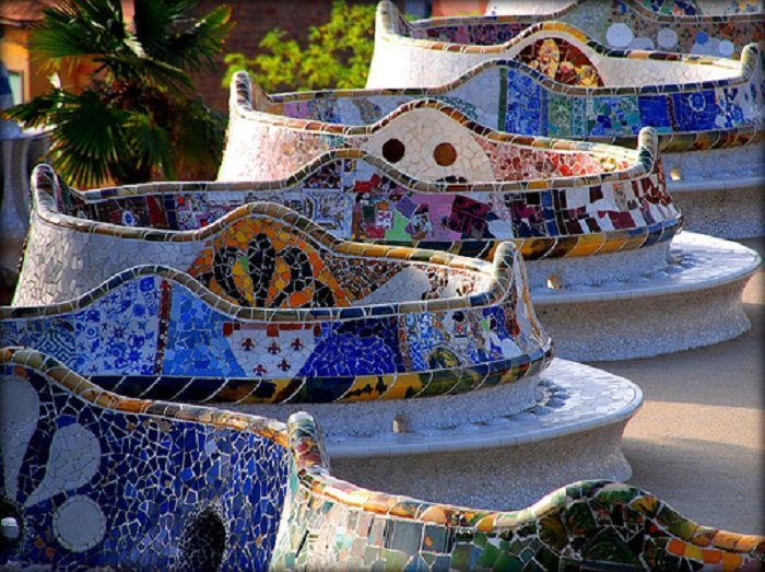 Park Guell Tile Seat