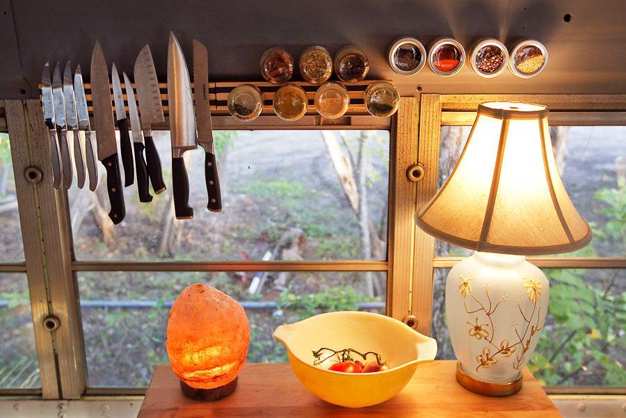 Home In A Bluebird Bus Photograph