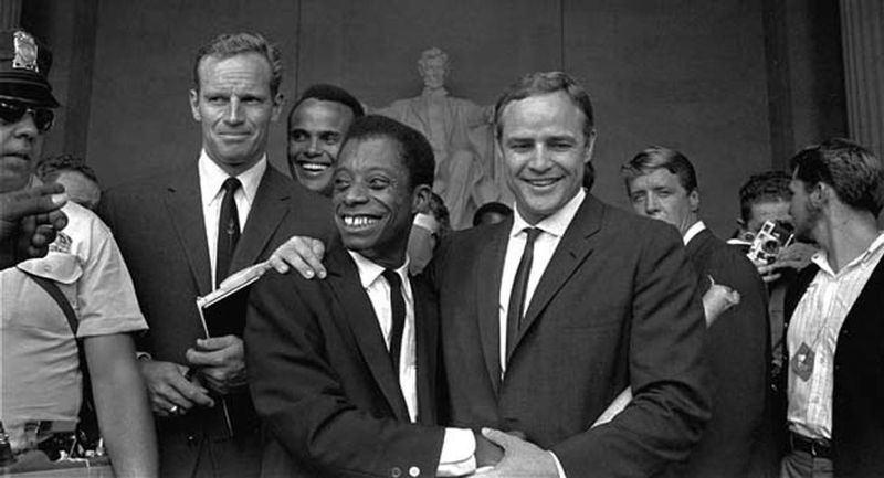 James Baldwin And Charlton Heston