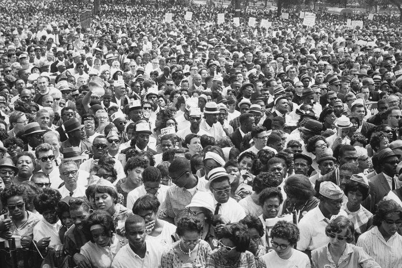 Large Crowd Gathered