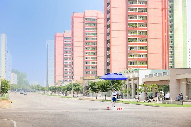 North Korea Rainbow Buildings