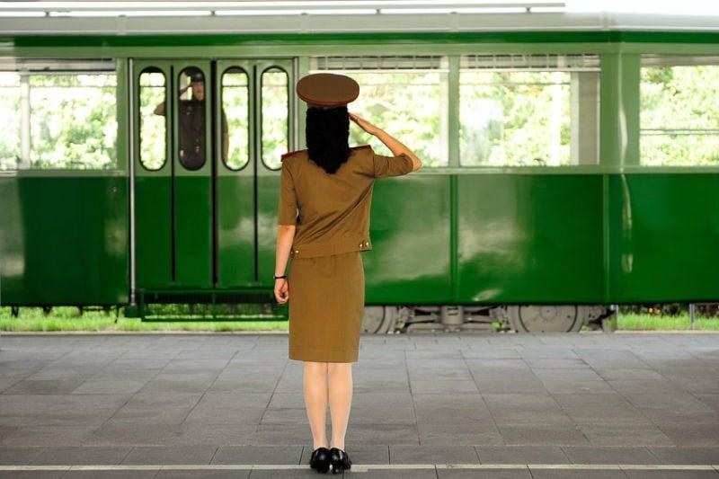 North Korea Soldier Salute