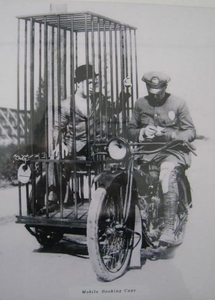 Odd Photos Harley Cage