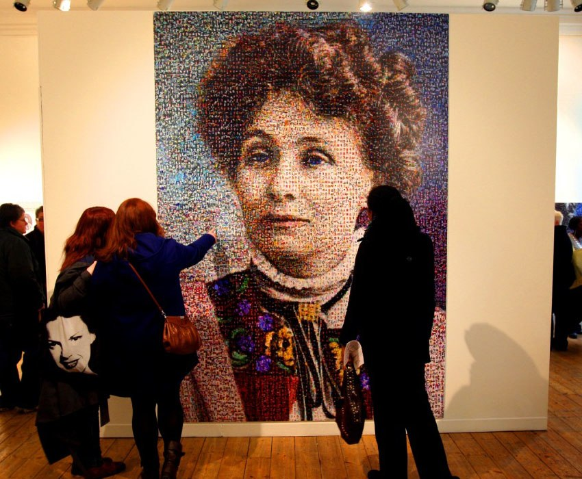 Suffrage Movement Art Emmeline Portrait