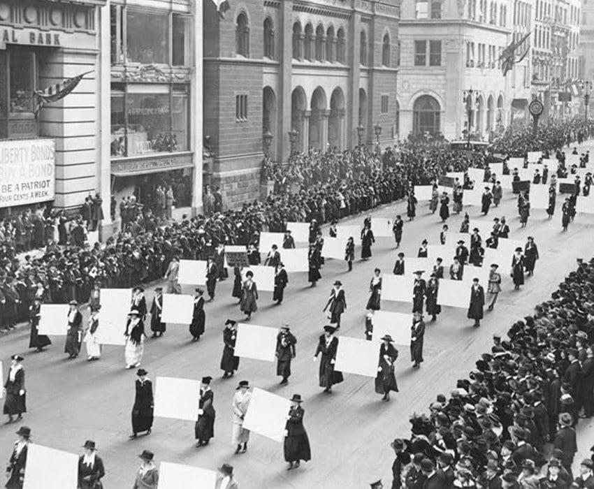 Suffrage Movement Art March