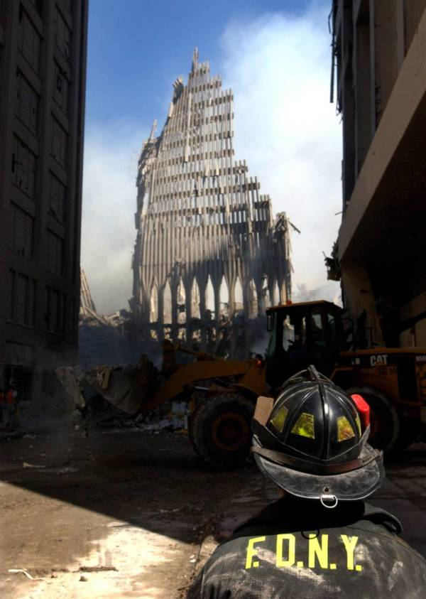 9/11 Photographs Remains Of South Tower