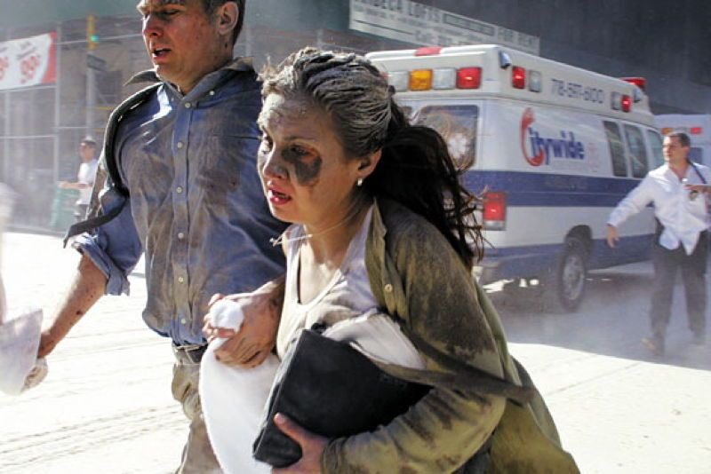 9/11 Photography Woman Running