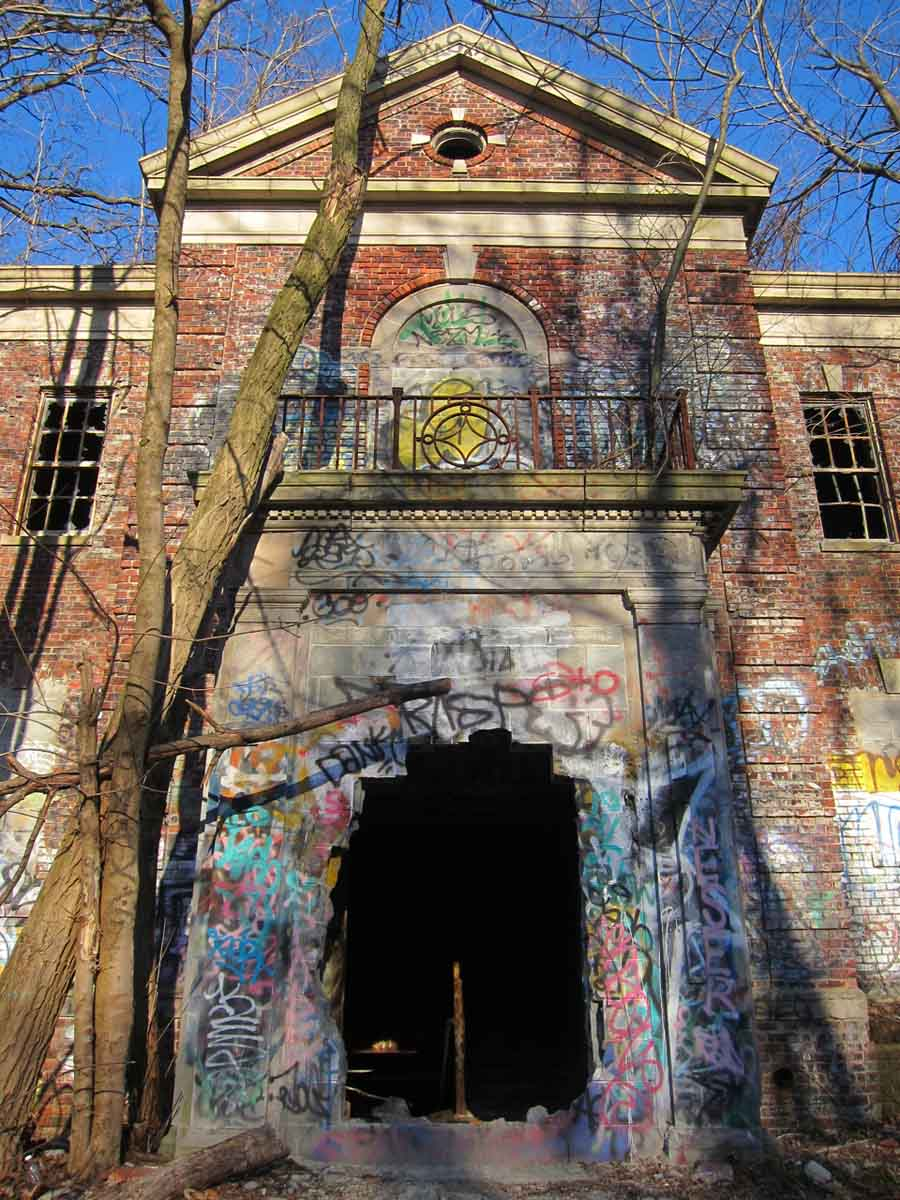 New York City Farm Colony Crumbling Entryway