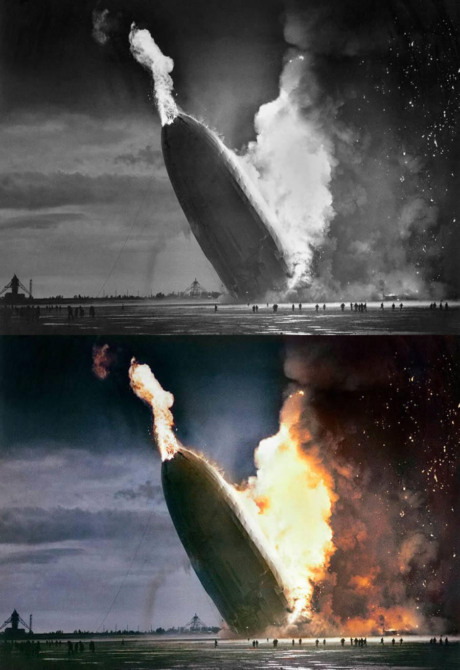 Hindenburg Disaster In Color
