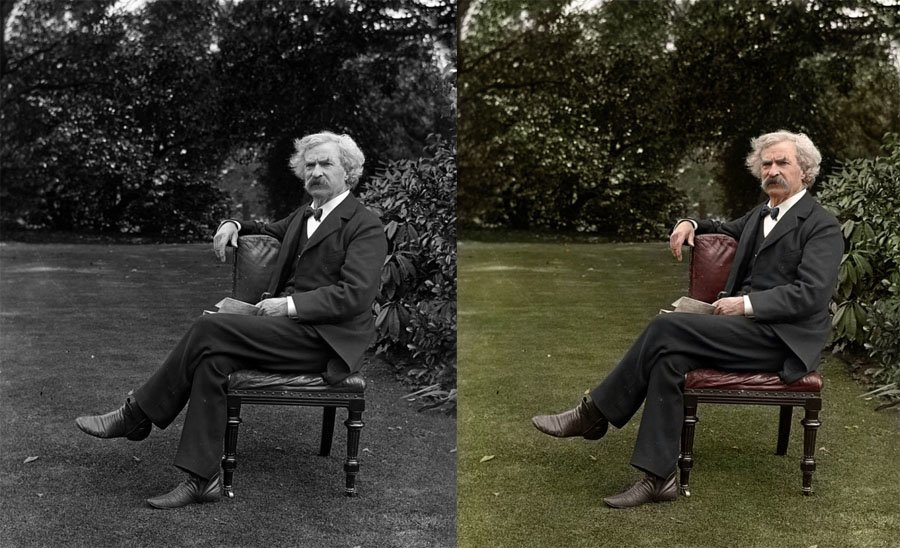 History In Color Mark Twain