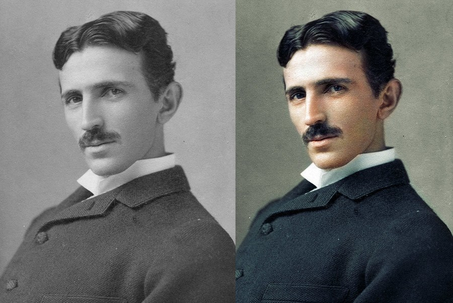 Nikola Tesla In Color