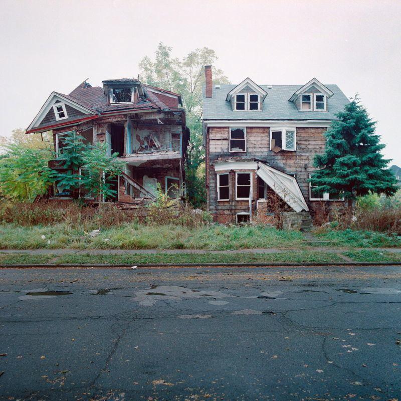 Abandoned Detroit Crumbling Houses