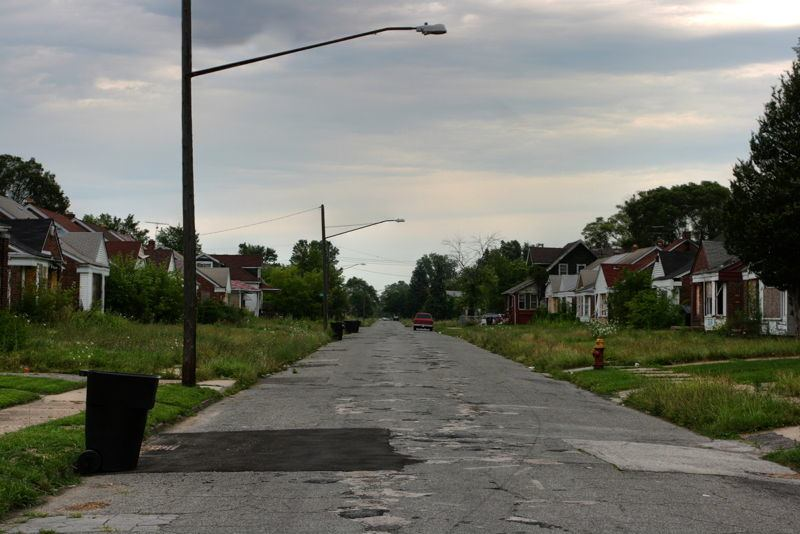 Decrepit Neighborhood Detroit