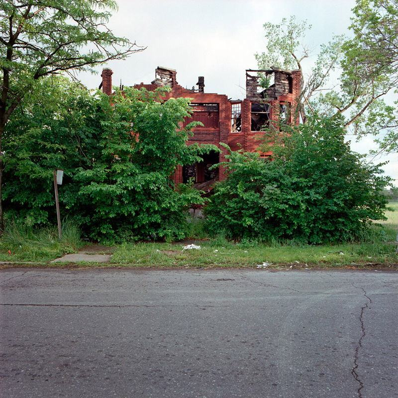 Abandoned Detroit Roofless House