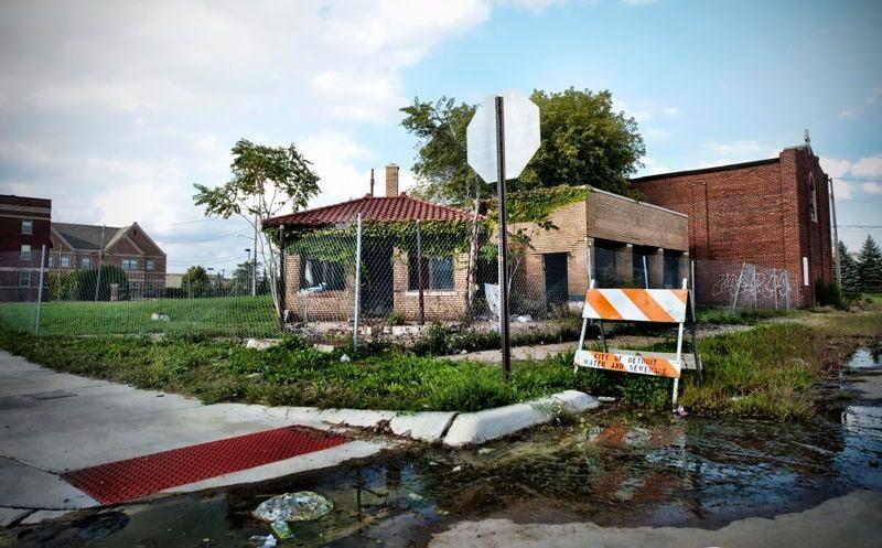 Abandoned Detroit Street Corner