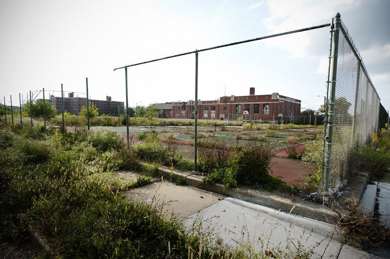 Abandoned Detroit Tennis Court